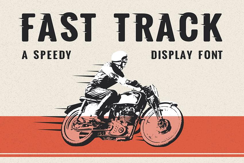 Fast Track Bold Sans Serif Fonts