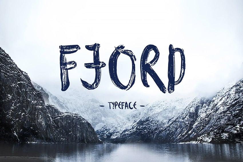 Fjord Bold Brush Script Font