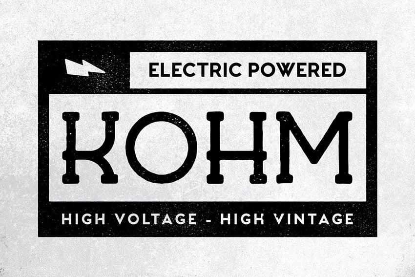 Kohm Vintage Serif Font