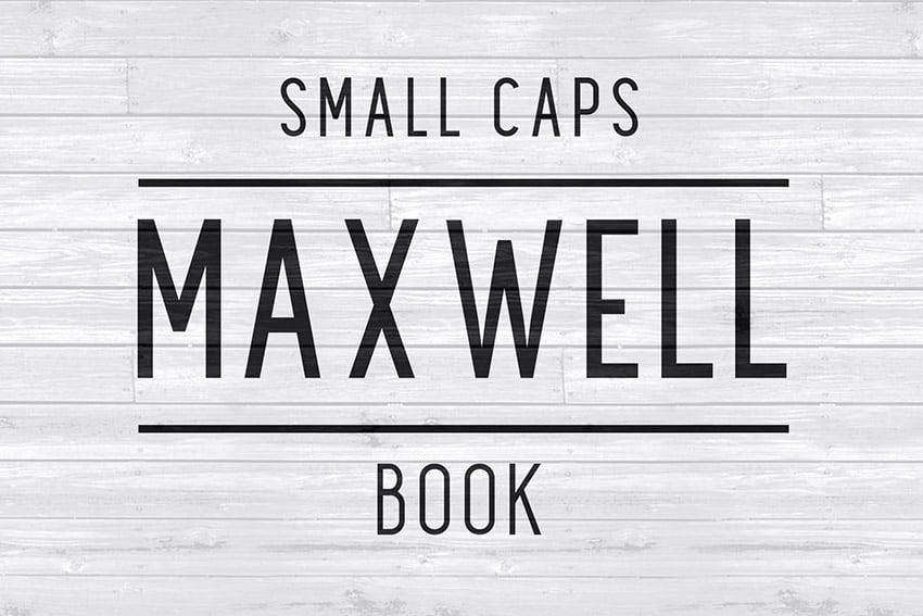 Maxwell Font Family Sans Serif