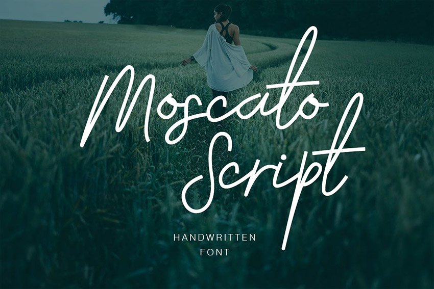 Moscato Fancy Script Font