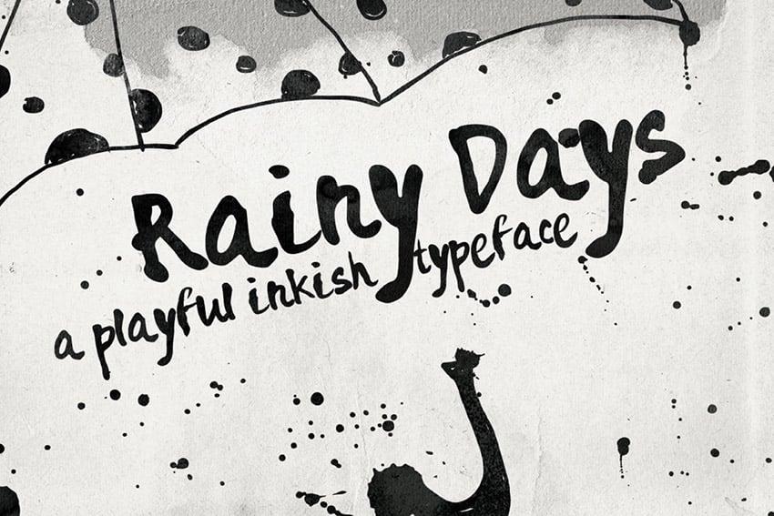 Rainy Days Playful Script Lettering Font