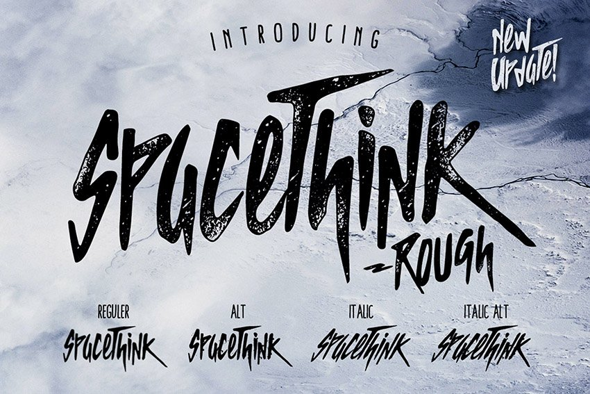 Spacethink Decorative Font Examples