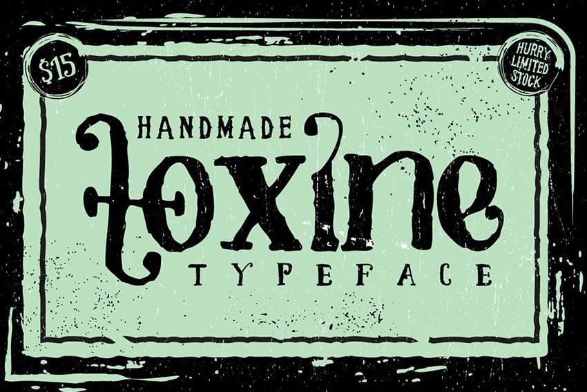 Toxine Decorative Script Font