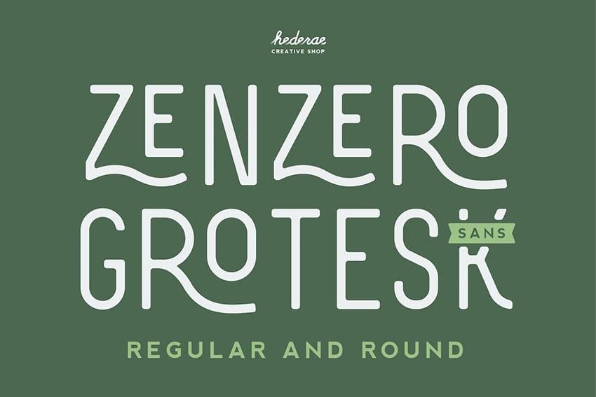Zenzero Rounded Sans Serif Font