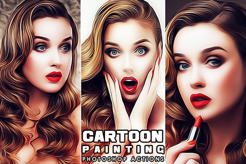 Cartoon Painting Photoshop Actions
