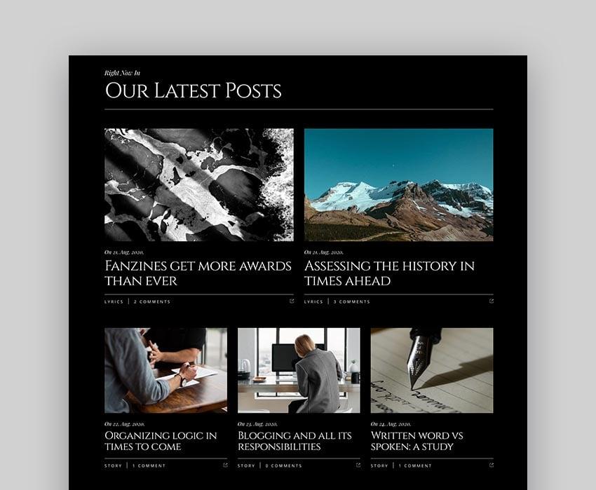 Belletrist WordPress Themes for Writers