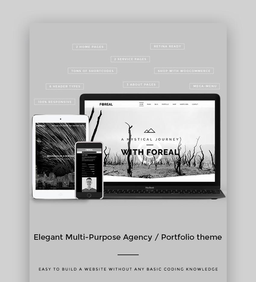 Foreal Author WordPress Theme