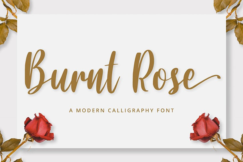 Burnt Rose Awesome Cursive Letters Font Download for PC and Mac