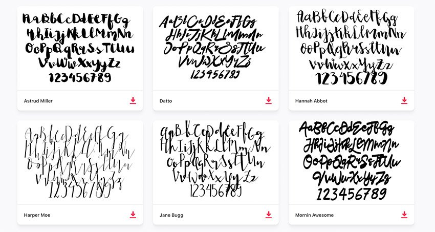 Free Curvy Cursive Creative Fonts From Envato Elements