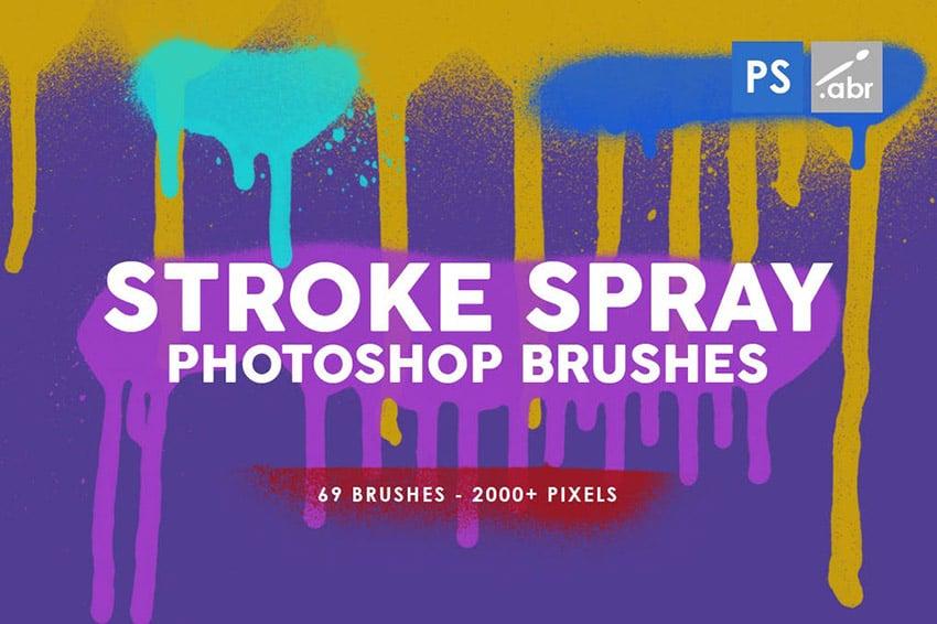 Stroke Spray Graffiti Pattern Photoshop Stamp Brushes