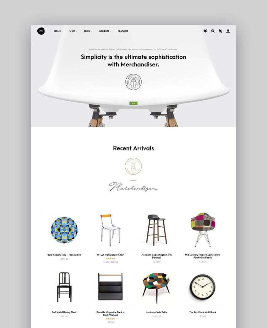 Merchandiser Clean WordPress WooCommerce Theme