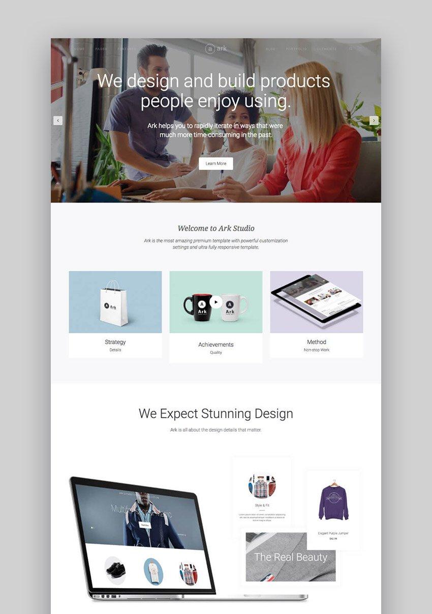The Ark Modern and Elegant Clean WordPress Theme