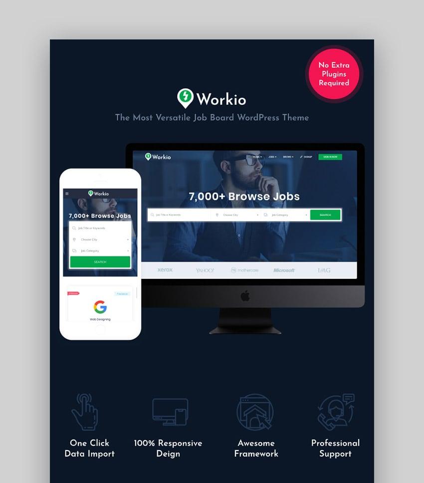 Workio WordPress Job Site