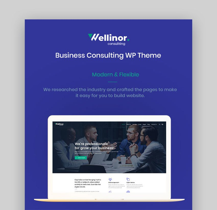 Wellinor Business Consulting Experts WordPress Theme