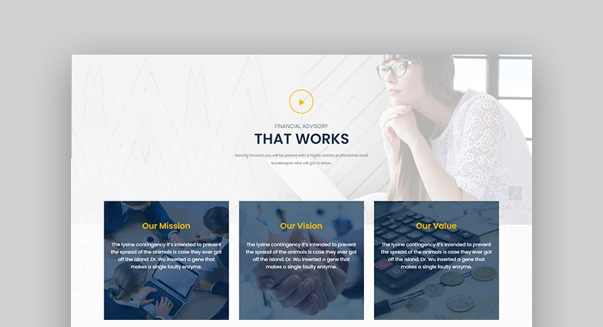 Amwal Finance Consulting WordPress Theme