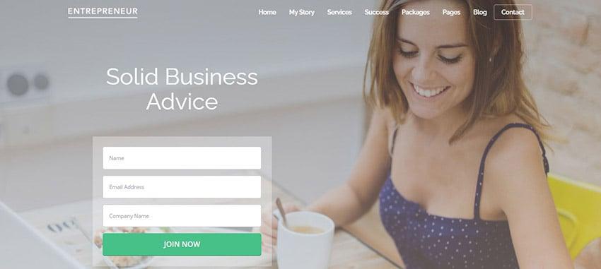 Entrepreneur Best WordPress Themes for Small Business