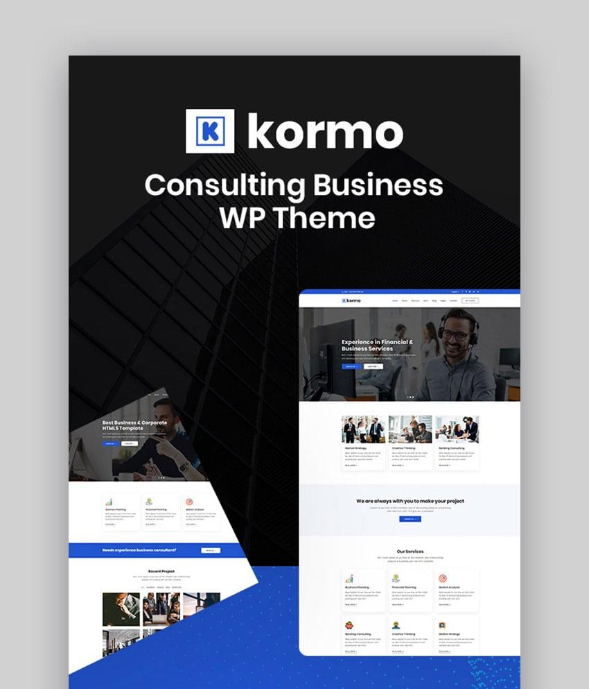 Kormo Consulting WordPress Theme