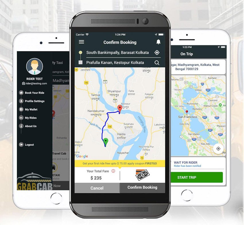 GrabCab Taxi React Native App