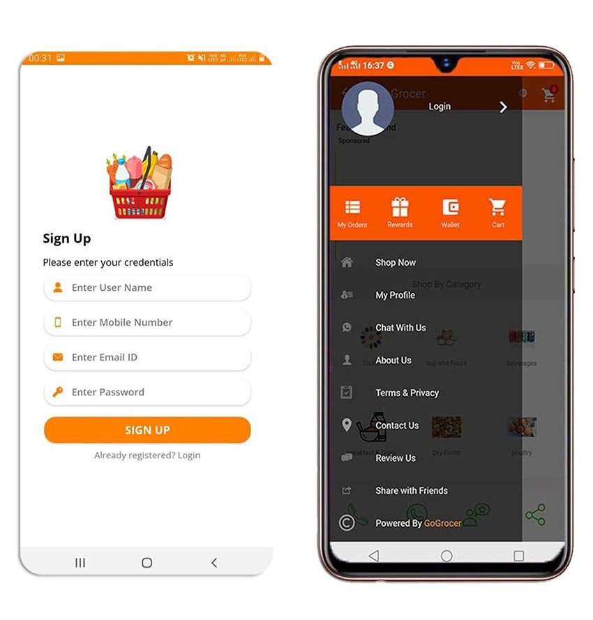 Grocery and Vegetable Delivery Android App Template