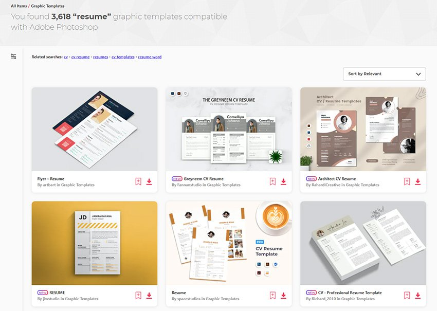 Resume Template CV Photoshop Downloads From Envato Elements