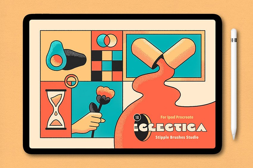 Eclectica Procreate Texture Brushes Pack