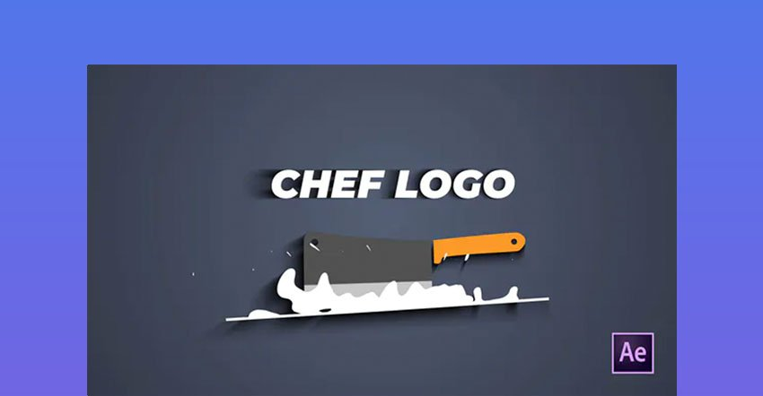 Chef Knife After Effects Logo Animation
