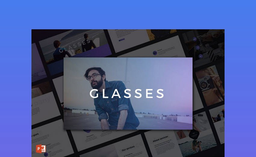 Glasses Really Cool PowerPoint Template