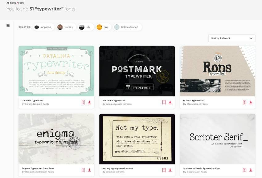 Best Typewriter Font Downloads From Envato Elements