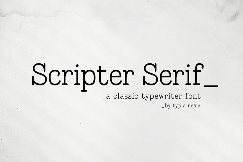 Scripter Classic Typewriter Font