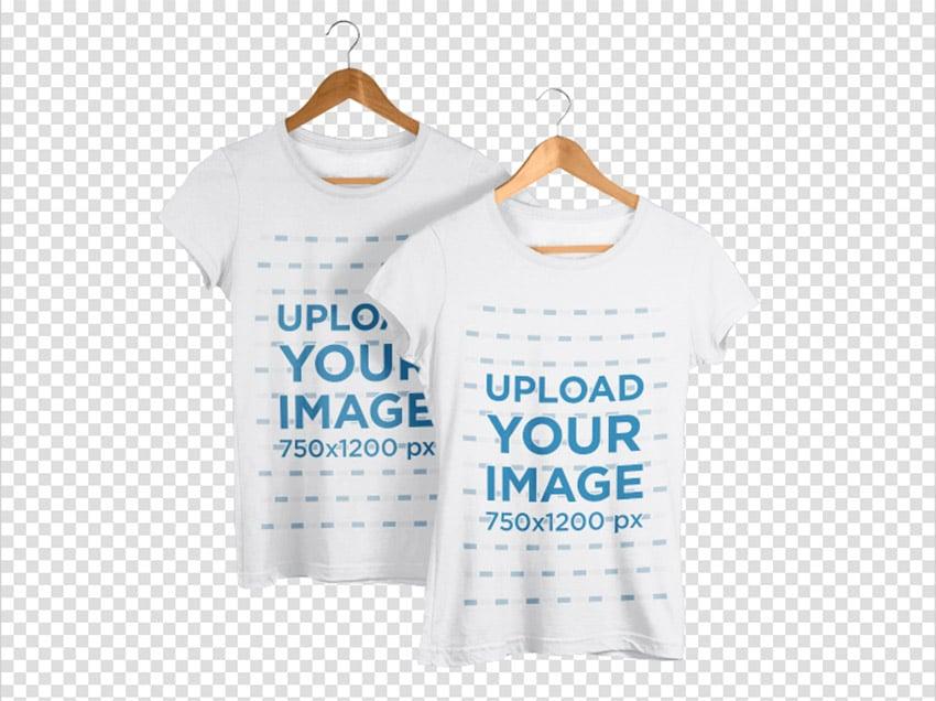 T-Shirts Mockup on Hangers