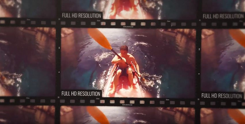 Film Roll Promo Premiere Pro Video Template