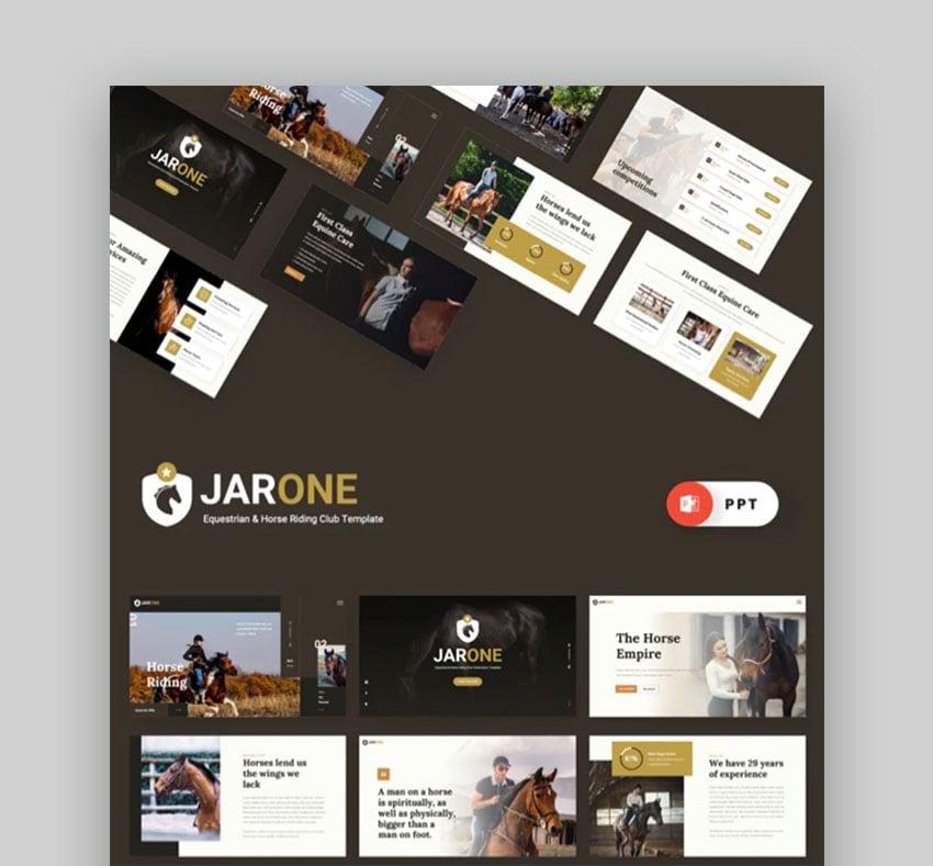 Jarone Equestrian Clean PowerPoint Presentation