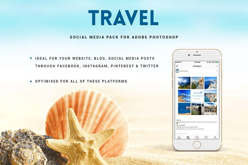 Travel Social Media Design Templates