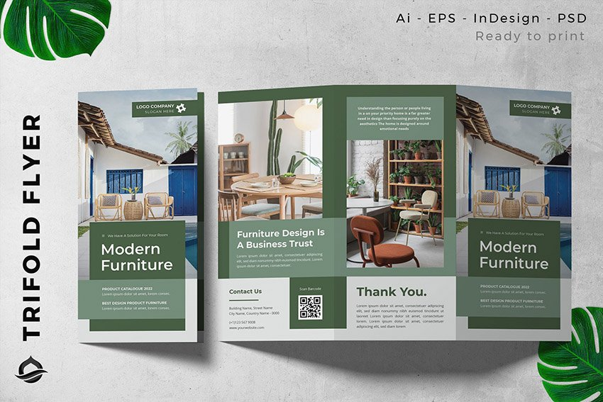 Elegant Furniture Brochure Design for InDesign