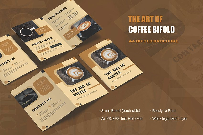 The Art of Coffee Pamphlet Design