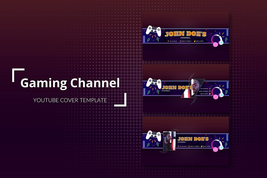 YouTube Channel Banner Template Pack