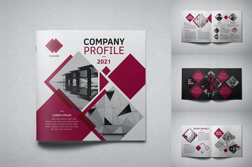Square Company Profile InDesign Brochure Template