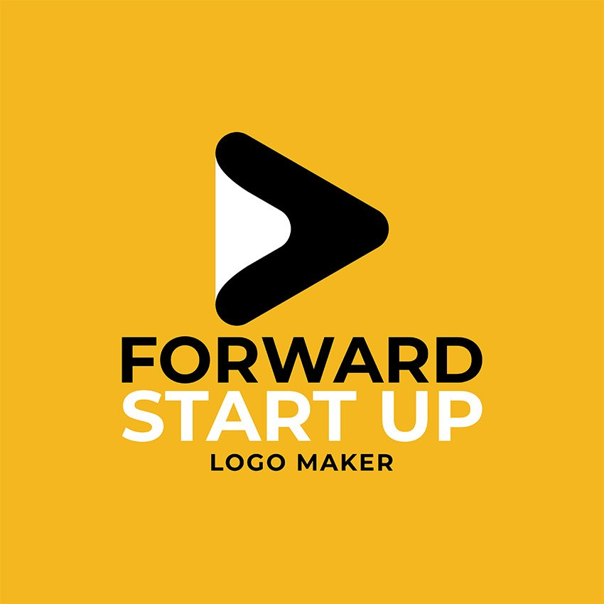 Start Up Logo Maker with Abstract Icon