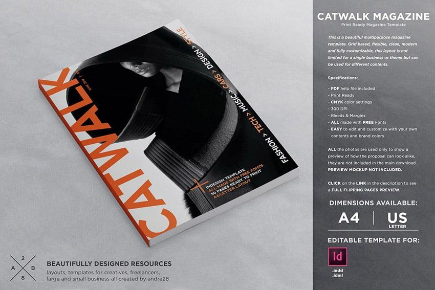 Catwalk InDesign Magazine Layout