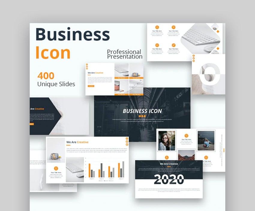 Business Icon Timeline Template for Google Slides