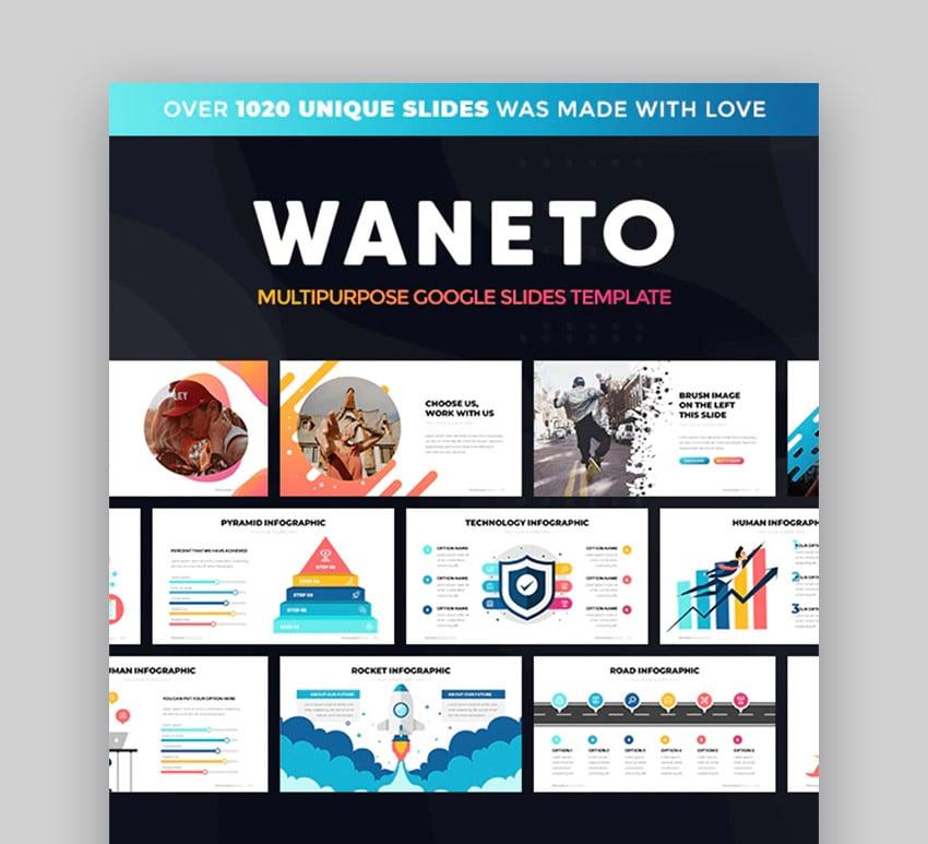 Waneto Timeline Google Slides Template