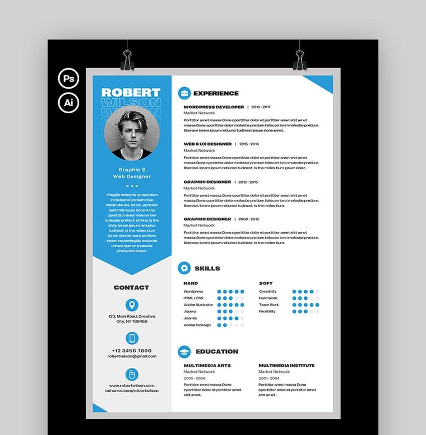 Unique Creative CV Format Download