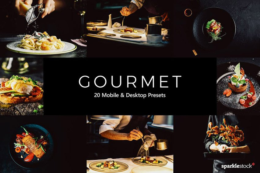 Gourmet Lightroom Presets and LUTs