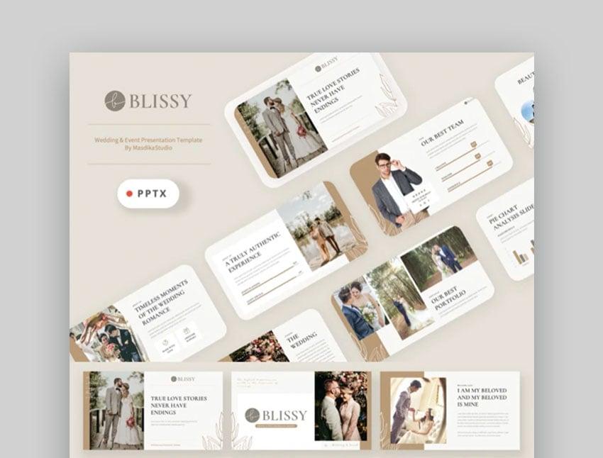 Blissy Wedding PowerPoint Template