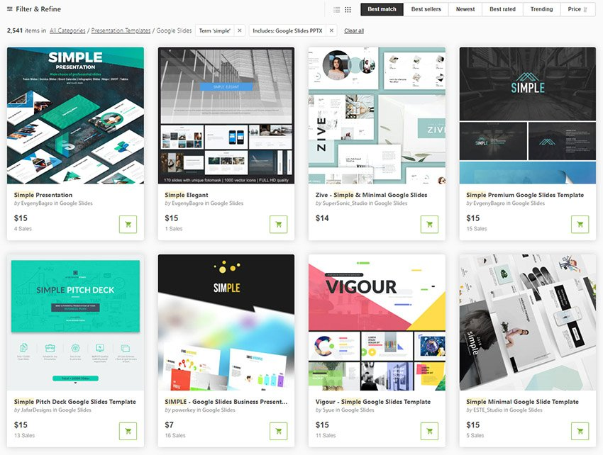 Simple Google Slides Themes from GraphicRiver