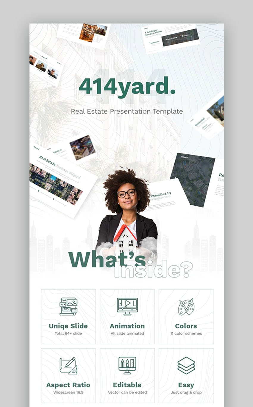 414Real Estate PowerPoint Presentation Template