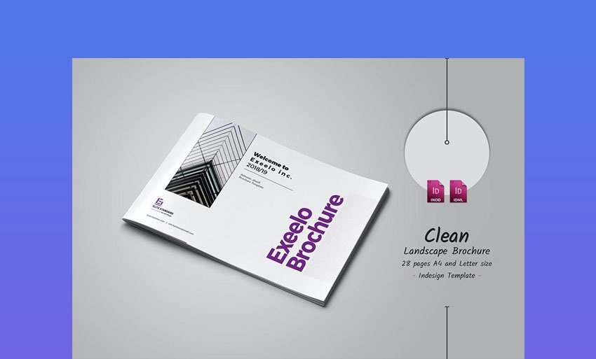 Minimal Landscape Brochure Template
