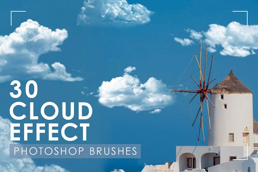 HD Clouds for Photoshop Brushes