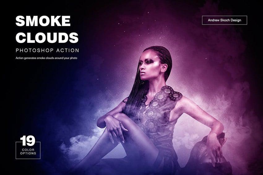 Smoke Cloud Effect Photoshop Action
